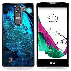 "Qstar Arte & diseño plástico duro Fundas Cover Cubre Hard Case Cover para LG G4c Curve H522Y ( G4 MINI , NOT FOR LG G4 ) (Plumas Light Blue Angel Wings Pájaro Espiritual"")"