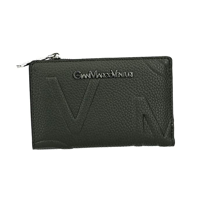 GIANMARCO VENTURI Cartera mujer verde con bolso central VA3060: Amazon.es: Ropa y accesorios