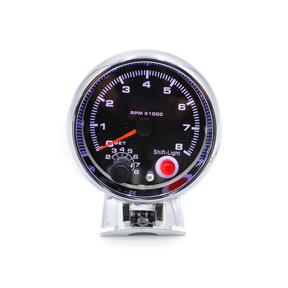 KKmoon 2 Pollici 52mm Pressione Turbo LED Digitale Bianco Superficie Brillante PSI
