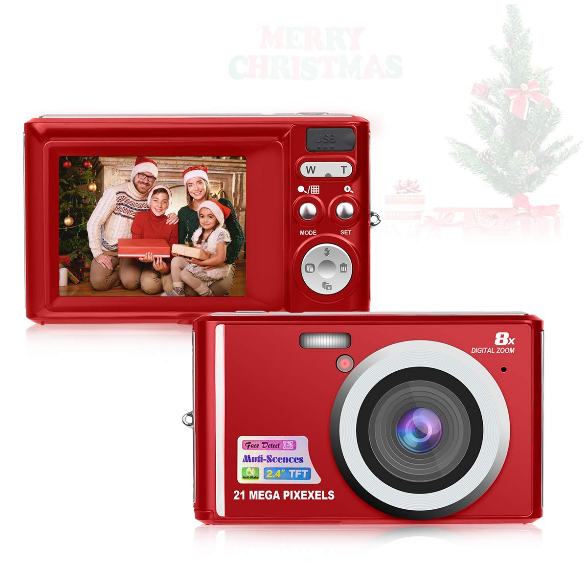 HD Mini Digital Cameras,Point and Shoot Digital Video Cameras-Travel,Camping,Gifts by Hasak1