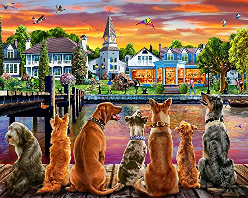 Vermont Christmas Company Dockside Dogs Jigsaw Puzzle 1000 Piece