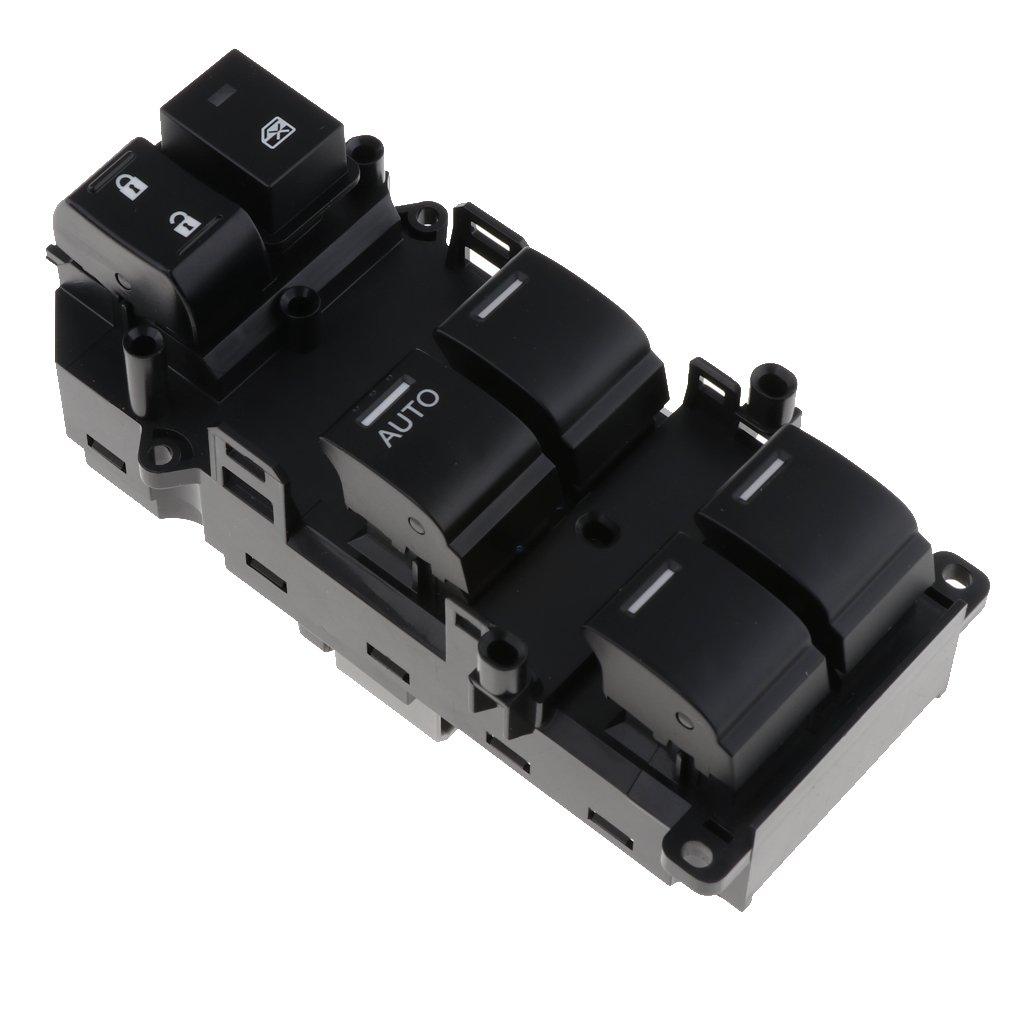 perfk 1 Pedazo Interruptor de Ventanas Delantero Izquierdo para Honda Accord 2008-2012 (35750 TB0 H01)