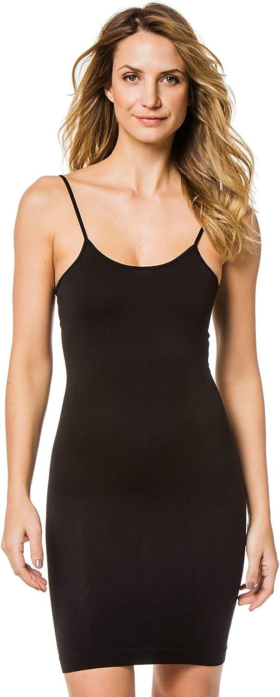 PilyQ Womens Midnight Black Slip Tank Dress Swim Cover Up