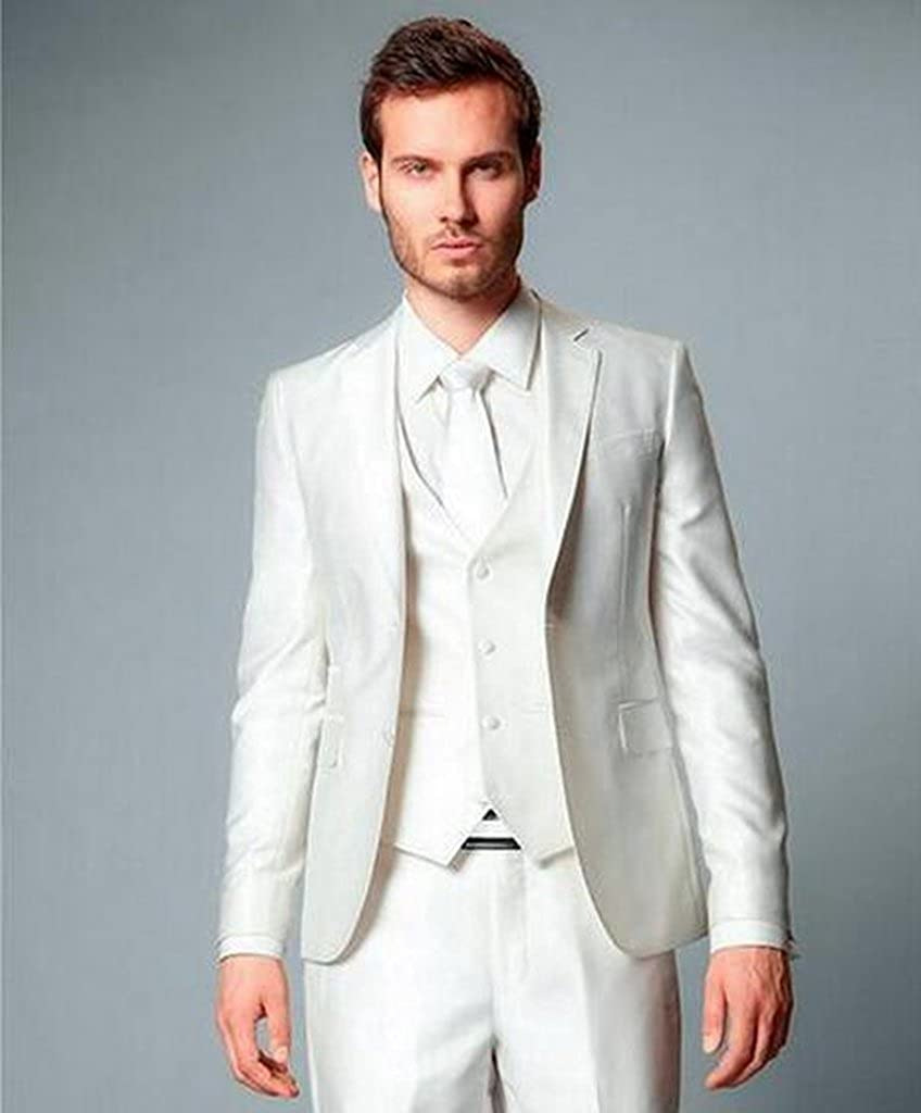 MLT Mens Custom Made Three Pieces Groom Wedding Event Suits