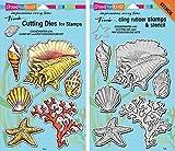 Stampendous Seashells Cling Stamp & Die Set - 2 Item Bundle