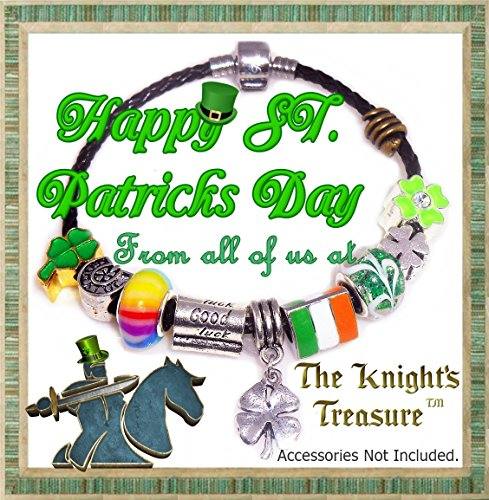 European Charm Bracelet Charms and Beads For Women and Girls Jewelry, Lucky Irish Green by Timeline Treasures (Image #8)