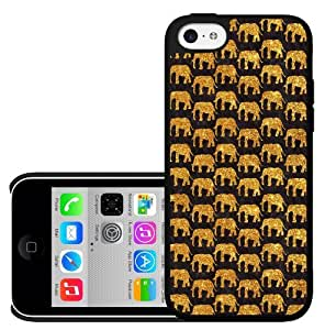 Gold and Black Elephants Hard Snap on Phone Case iphone 5c