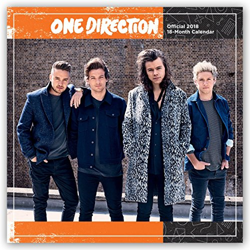 One Direction 2018 12 x 12 Inch Monthly Square Wall Calendar by Global, Pop Music Sing Group Band 1D