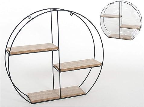 Estantería decorativa circular 40 x 38 x 8 cm: Amazon.es ...