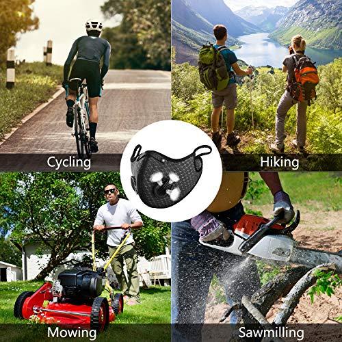 Begleri Anti-poussière Anti-Pollution Sport Lavable Réutilisable pour Le Cyclisme et la Course à Pied, Ensemble 2 (Noir)