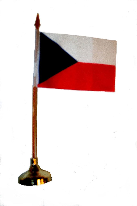 4 in. x 6 in. Czech Republic Miniature Flag