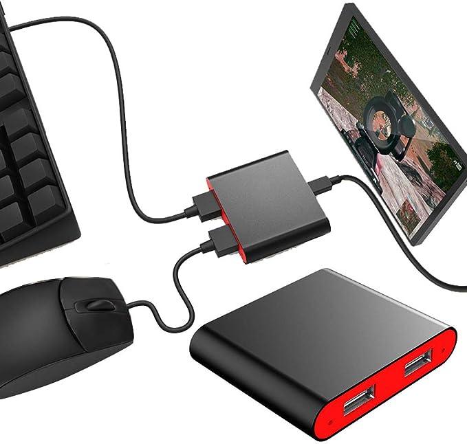 DC 4,7 – 5,5 V convertidor portátil Bluetooth 4.0 ratón móvil Teclado convertidor Compatible con la mayoría de los Juegos FPS móvil PUBG, Cuchillos Fuera, Fortnite Android Smart Phone Tablet: Amazon.es: Electrónica