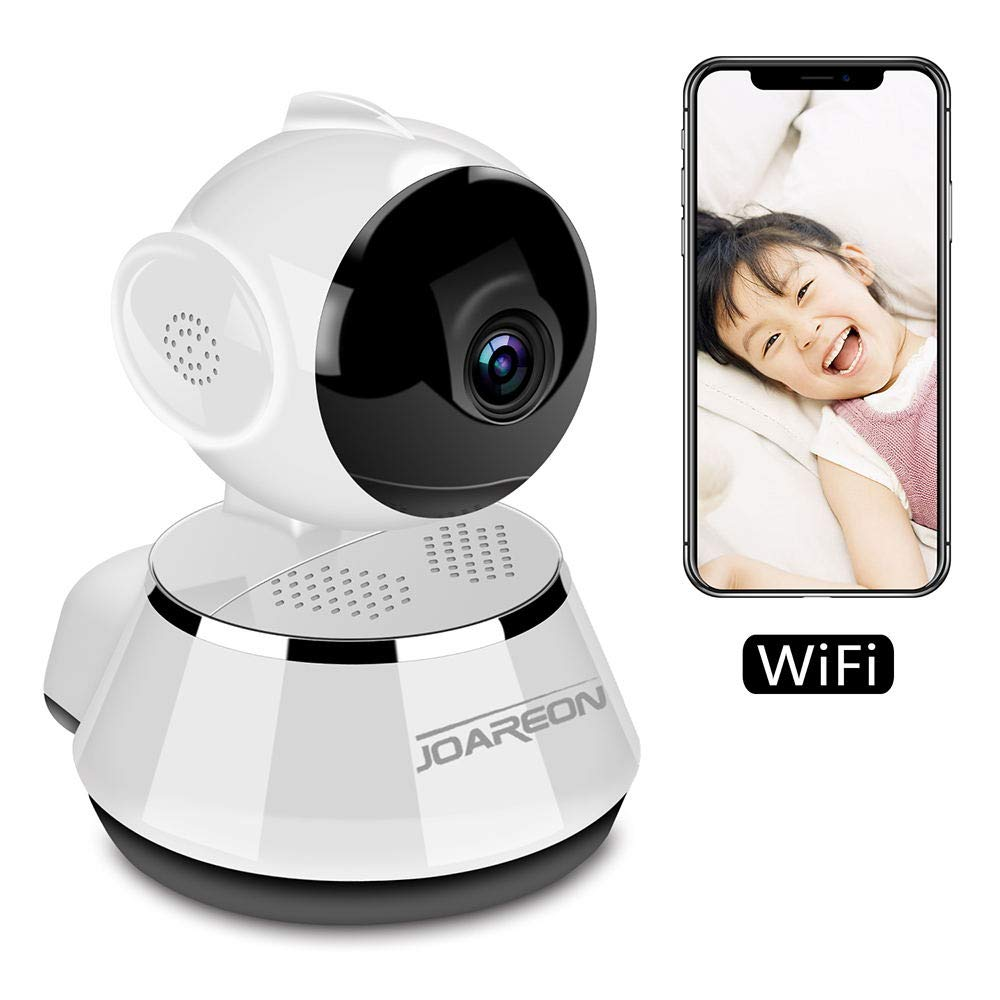 JOAREON HD 720P Home Wireless Camera Remote Control,WiFi Security Video Camera Pan/Tilt Motion Detection Alarm, Baby/Nanny/Elder Monitoring,V380 WiFi Camera,Easy to Achieve Real-time Remote Viewing