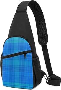 Rainy Day Plaid Sling Bag - Mochila ligera para el hombro, mochila para el pecho, bolsa cruzada, para viajes, senderismo, para hombres y mujeres