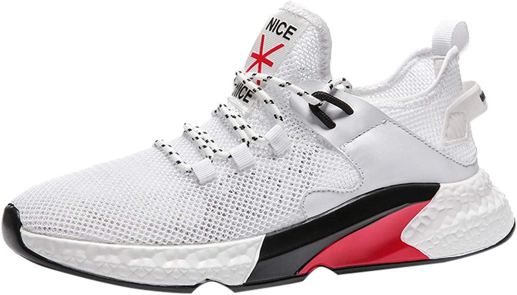 ZARLLE Zapatos para Correr en Asfalto para Hombre,Zapatos de Cordones,Ligeros Transpirables Zapatos de Malla,Zapatillas de Running,Sneakers para Caminar,Zapatos de Tejer para Hombre: Amazon.es: Ropa y accesorios