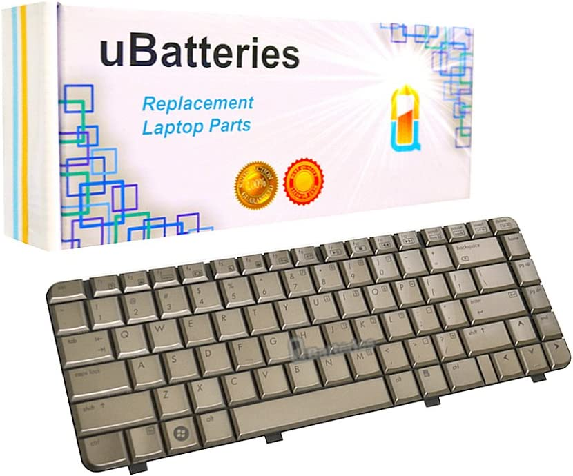 UBatteries Compatible Laptop Keyboard Replacement for HP Pavilion DV4-1000 DV4-2000 DV4T-1000 495646-001 508119-001 538108-001 LKB-HC09C - (Coffee)