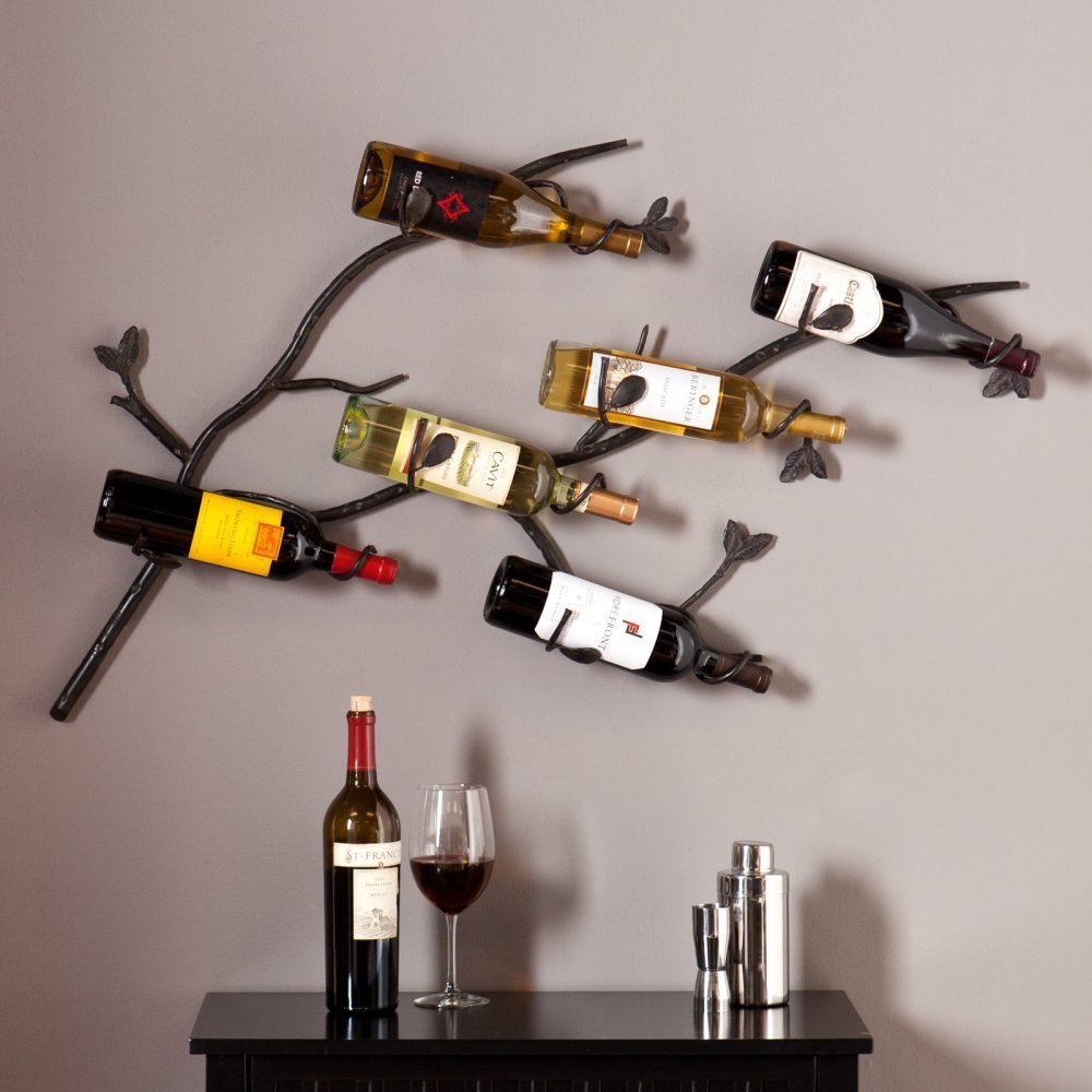 Southern Enterprises Salerno Wall Mount Wine Rack
