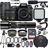 Nikon D7500 20.9 MP DSLR Camera Video Kit with AF-P 18-55mm VR Lens, AF-P 70-300mm ED VR Lens & 500mm Lens + LED Light + 32GB Memory + Filters + Macros + Deluxe Bag + Professional Accessories
