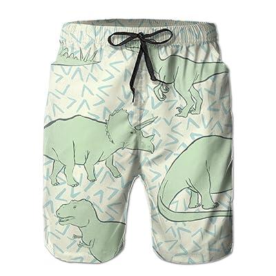 BBAngle Dinosaur Mens Board Shorts Swim Trunks Men Tropical Basketball Swim Board Shorts
