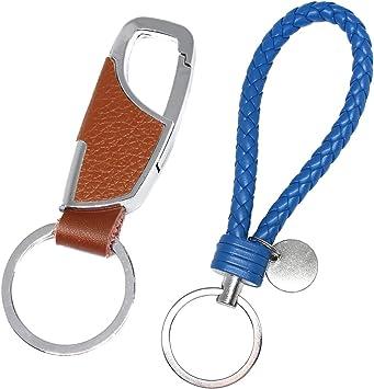 Wrist Key Chain-Wrist Strap-Fashion Key Chain-PU Leather Keychain Lanyard Strap String-Handmade Heavy Duty car Keychain with Release Key Ring for Men and Women fit Porsche Mercedes BMW Cadil Pink