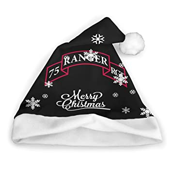 1235e69462d33 Amazon.com   Army 75st Ranger Regiment Christmas Hats Classic Santa Hat  Christmas Holiday Hat   Sports   Outdoors
