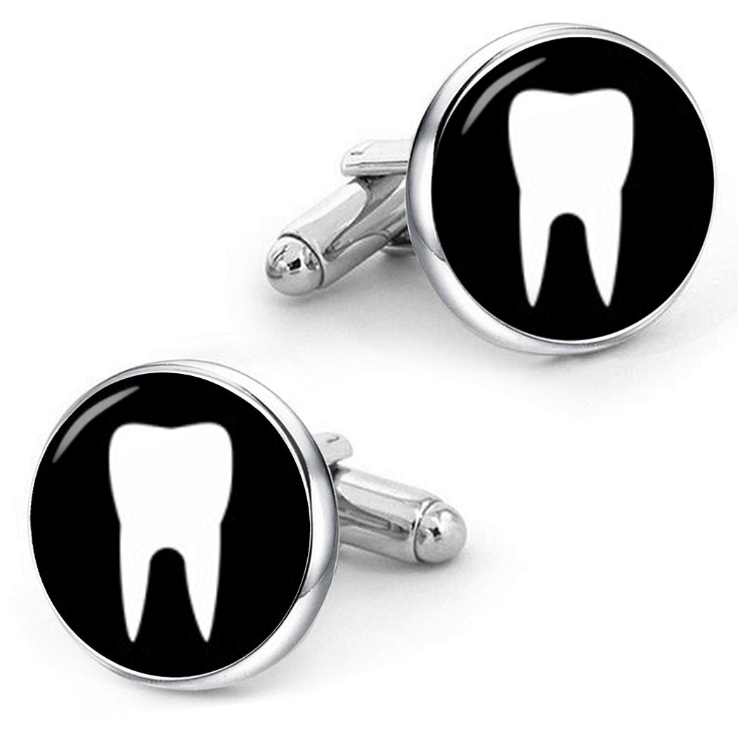 Kooer Baby Teeth Tooth Cufflinks Custom Personalized Cuff Links Tie Clip Dentist Wedding Cuff Links