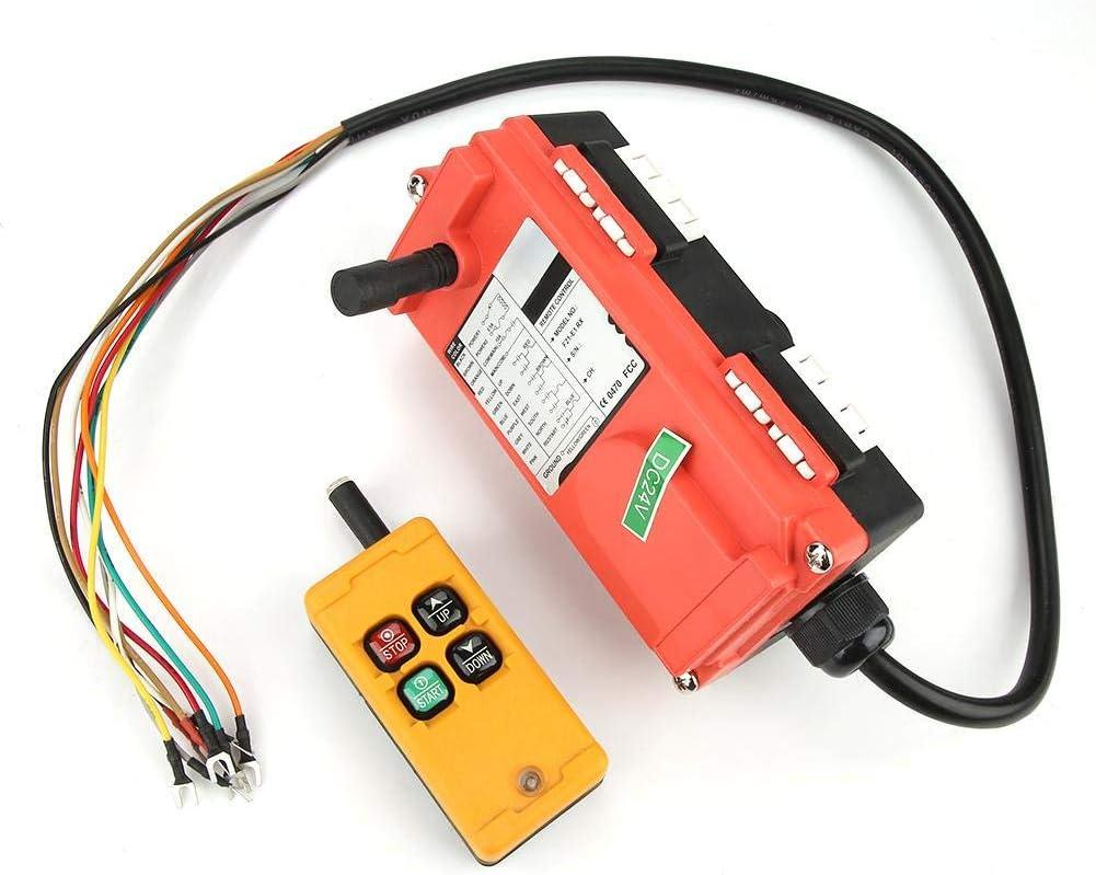 4 botones sistema de control de elevación de grúa 24 V, sistema de control, interruptor pulsador con emisor para grúa