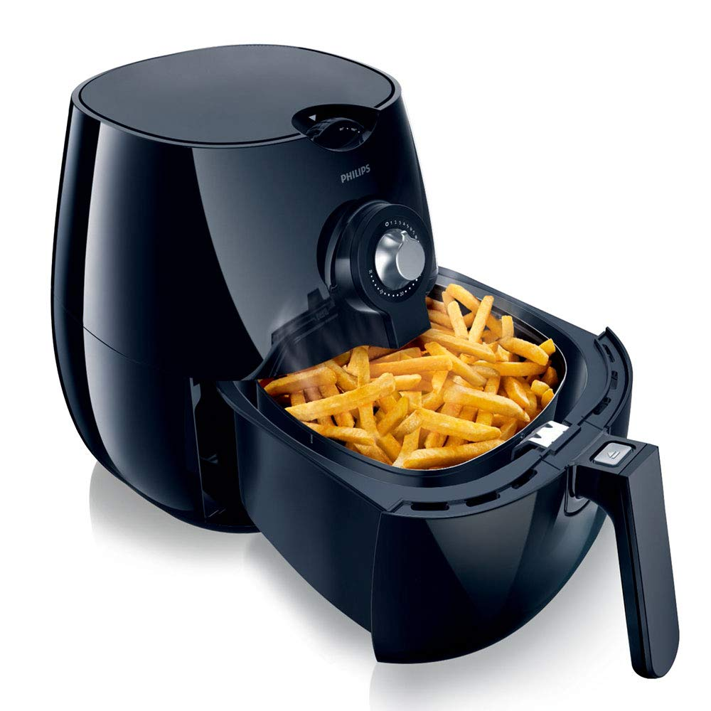 Philips HD9220/20 - AirFryer, freidora saludable por aire caliente, fríe, tuesta, asa y hornea, 800g de capacidad, color negro: Amazon.es: Hogar