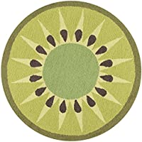 Novogratz by Momeni Rugs CUCINCNA-2GRN300R Cucina Kiwi Kitchen Mat, 3 x 3 Round, Green