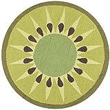 Novogratz by Momeni CUCINCNA-2GRN300R Cucina Collection Kitchen Mat, Area Rug, 3' x 3' Round, Green