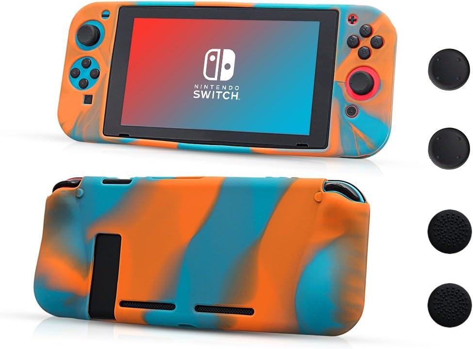 CHIN FAI Nintendo Switch Funda Protectora de Silicona, Suave Antideslizante 360 ° Funda Protectora de Silicona para Nintendo Switch [Ligero, Duradero Pieles recubiertas de Goma]: Amazon.es: Electrónica