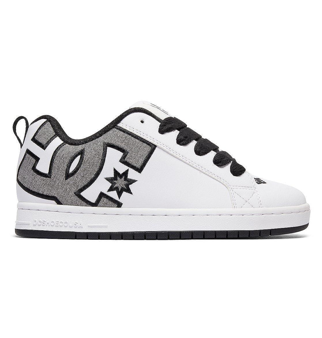 Blanc gris (Heather gris) 39.5 EU D D DC chaussures Court Graffik SE Pour des hommes chaussures D0300927, paniers mode homme