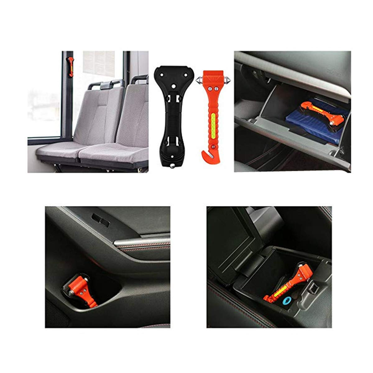 KAFEEK Safety Hammer 8-Pack Life Saving Survival Kit Emergency Escape Tool with Car Window Breaker and Seat Belt Cutter