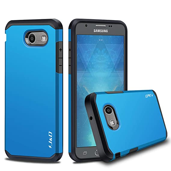 finest selection 48fac d23e1 J&D Case Compatible for Galaxy J3 Emerge/Galaxy J3 2017 / Galaxy J3 Prime  Case, Heavy Duty [Dual Layer] Hybrid Shock Proof Protective Rugged Bumper  ...