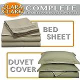 QUEEN Size 1200 Series 4pc Brushed Microfiber Bed Sheet Set, Deep Pocket, SAGE