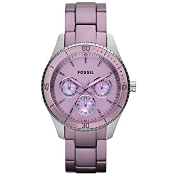 Fossil Womens ES3038 Stella Purple Aluminum and Stainless Steel Watch