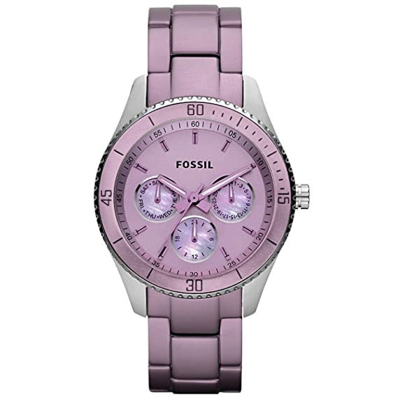 Amazon.com: Fossil Womens ES3038 Stella Purple Aluminum and Stainless Steel Watch: Fossil: Watches