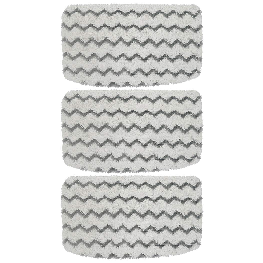 Ugardo Washable 3 Packs Dirt Grip Microfiber Pads Replacement for Shark Steam Mop S1000 S1000A S1000C S1000WM S1001C Vacuum Cleaners Accessories