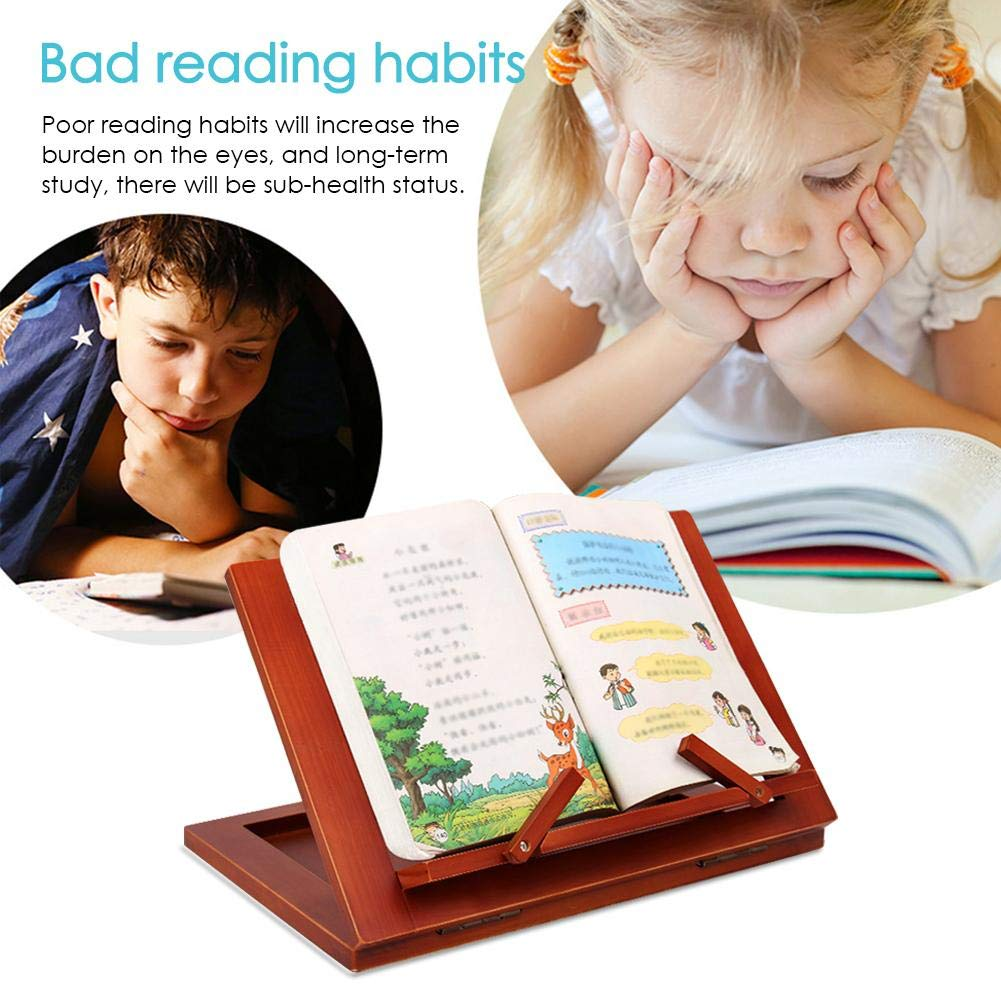Book Holder Stand for Reading Cookbook Foldable Book Bookrest for Books Smartphones Cook Recipe Ipads Tablets