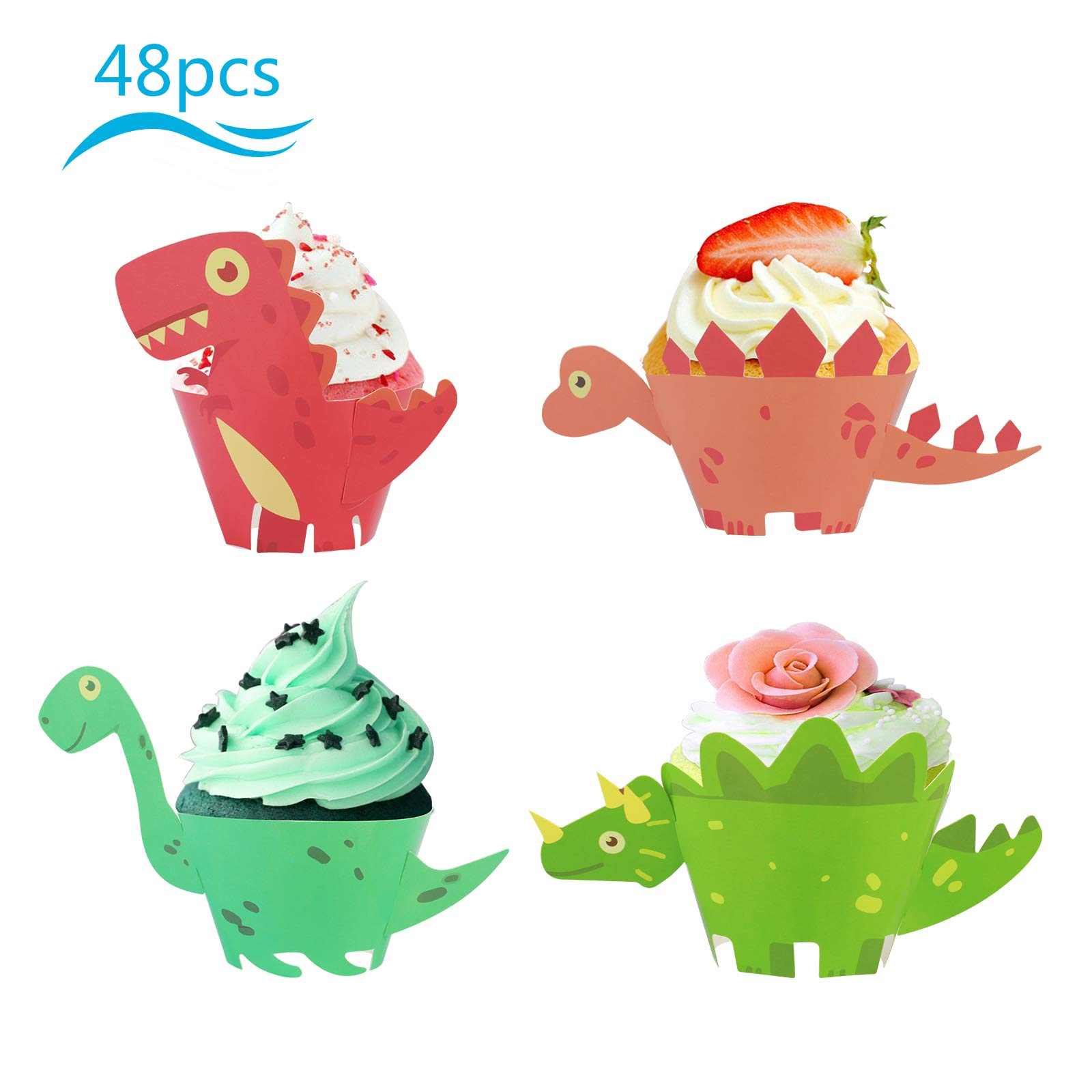 Great dinosaur cupcake wrappers