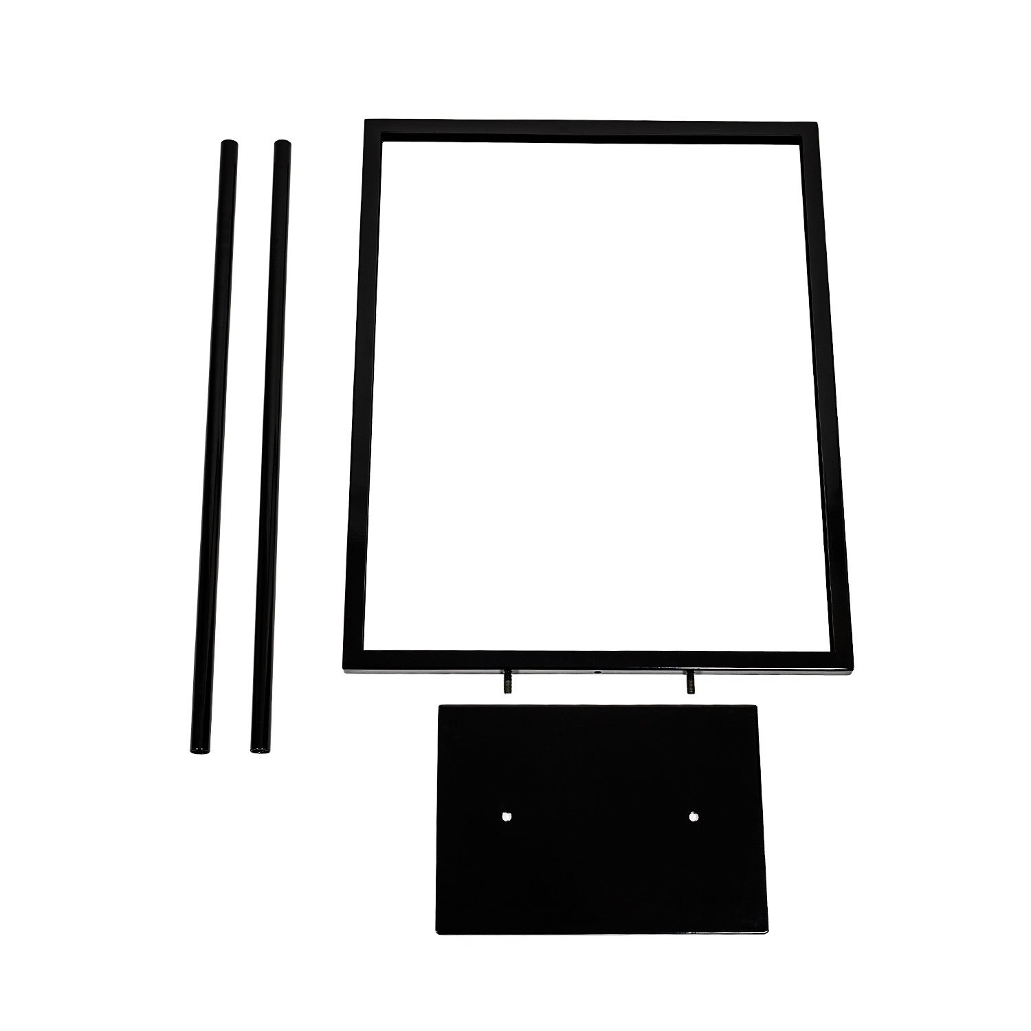 Source One Deluxe 22 x 28, 11 x 17, 8 1/2 x 11 Inch Floor Standing Sign Holders Multiple Colors Black, White & Gray Heavy Duty Weighted Metal (22 x 28 Inch, Black) by SOURCEONE.ORG (Image #3)