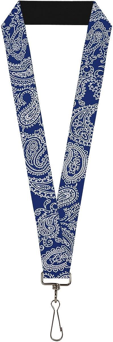 Lanyard Paisley Blue White