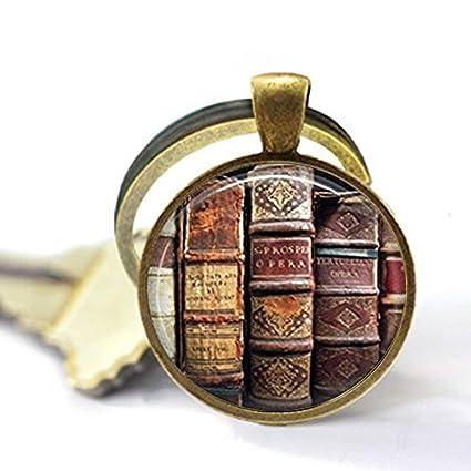 Llavero de libro, joyería bibliotecaria, biblioteca ...