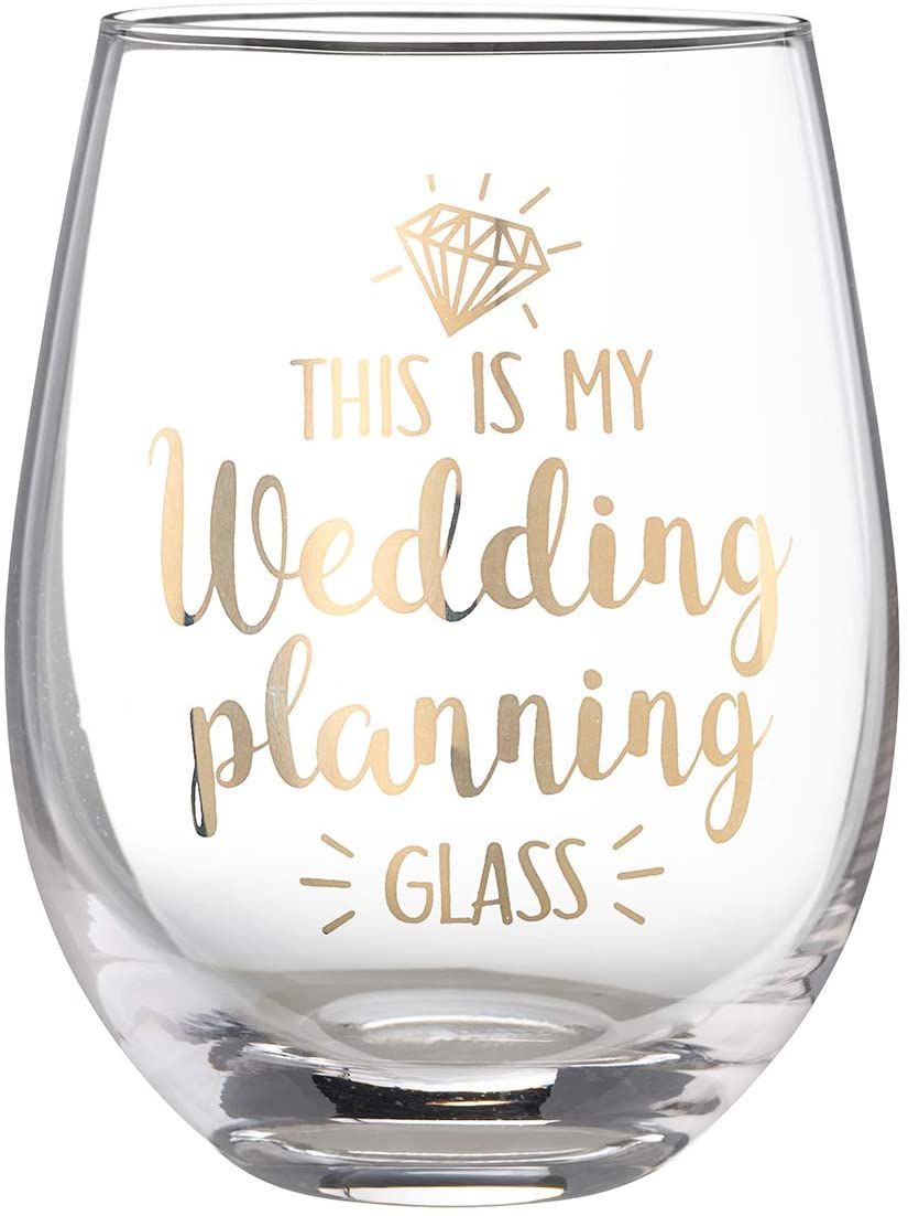 Height 4.75 Gold Lillian Rose G117 OM Market Stemless Wine Glass