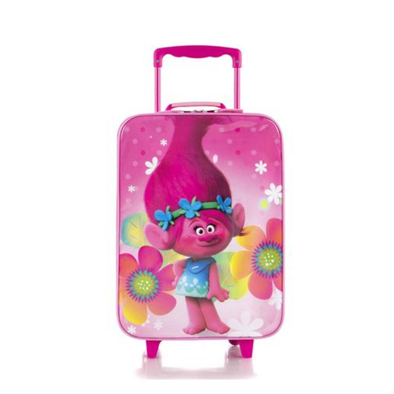 Heys Trolls Brand New Classic Designed Retractable Handle Basic Kids Soft Side Luggage 17 inch