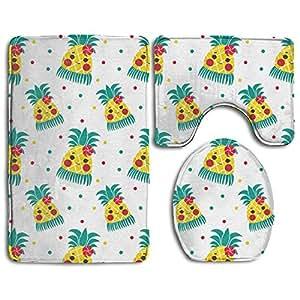 Amazon.com: KAHmn Cute Pineapple 3-Piece Soft Bath Rug Set