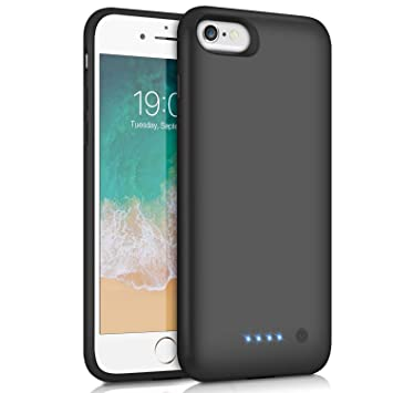 Funda Batería para iPhone 7/6/6s/8, Feob Funda Cargador 6000mAh Carcasa Batería Externa Recargable Cargador Portatil Power Bank Case para Apple iPhone ...