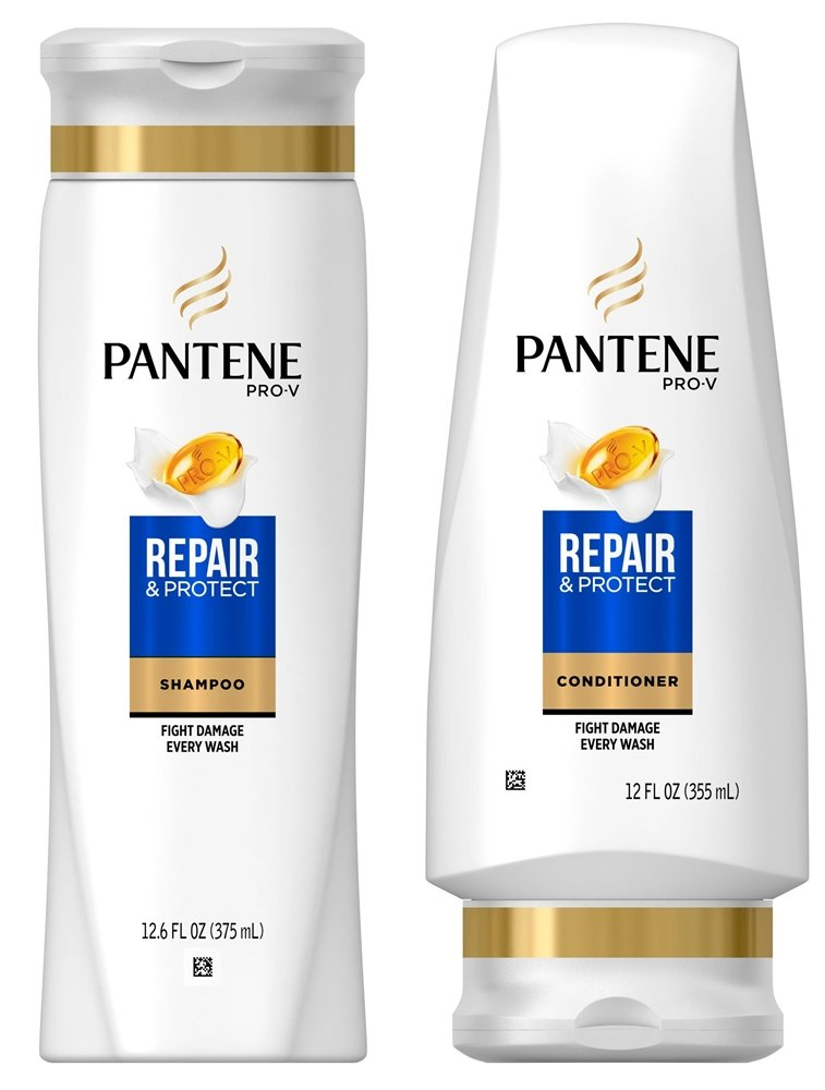 Pantene Repair & Protect Shampoo and Conditioner Set, 12.6 Fl Oz and 12 Fl Oz (Set Contains 2 items) by Pantene
