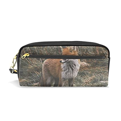 bennigiry Fox en la hierba luz lápiz bolsas caja de lápiz ...