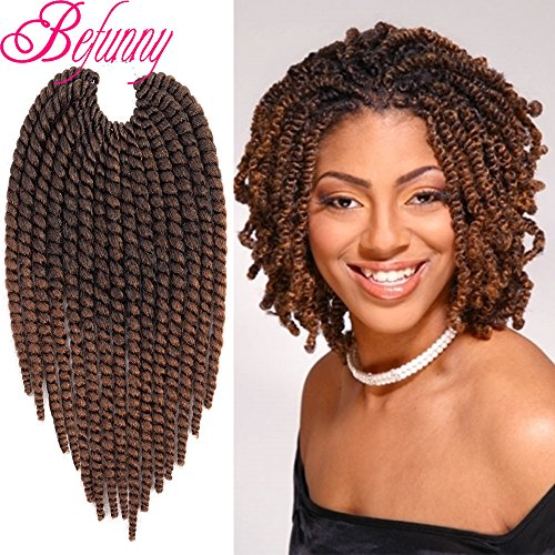 Befunny 8Inch 6Packs Ombre Havana Twist Crochet Hair for sale  Delivered anywhere in USA
